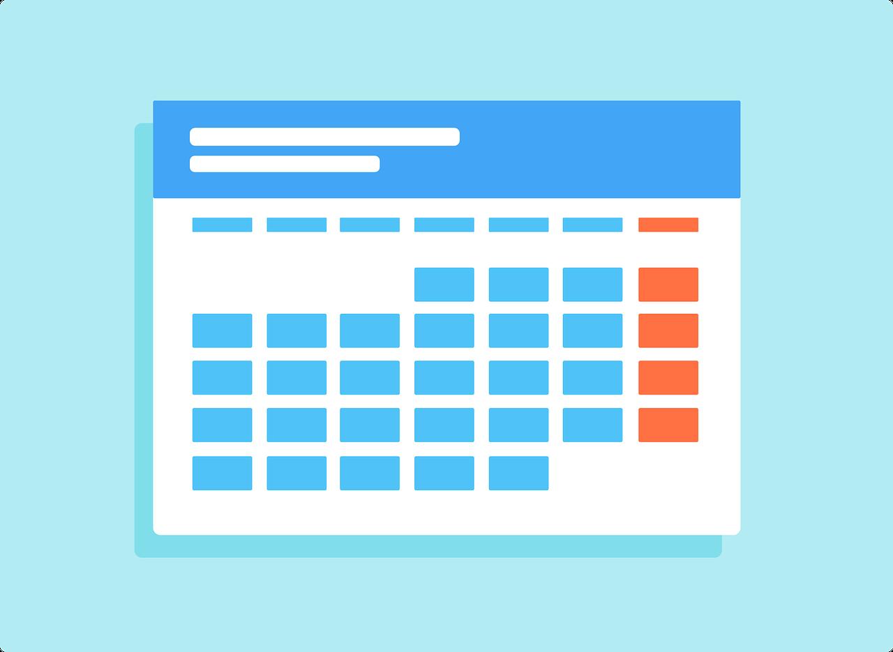 un calendrier est nécessaire pour calculer le salaire en cas de mois incomplet